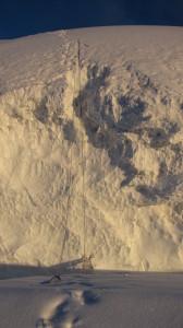 Трещина на спуске с плеча Чапаева